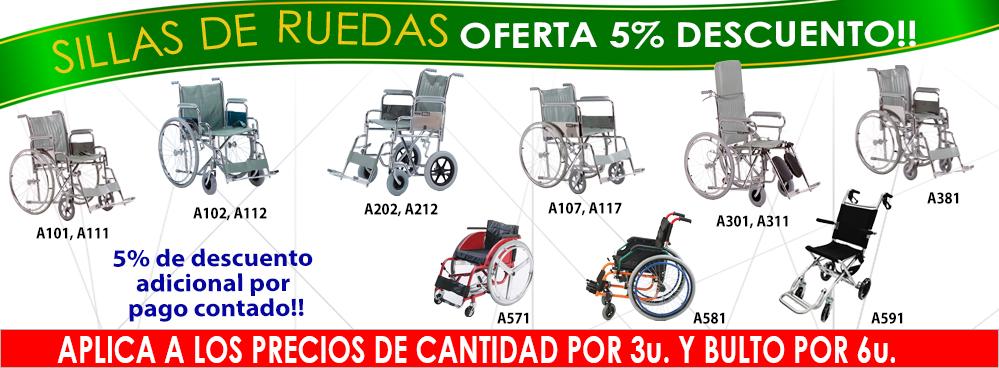 SILLAS DE RUEDAS - OFERTA 5% DESCUENTO POR CANTIDAD Y BULTO