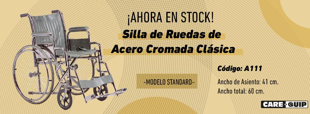 AHORA EN STOCK !!! SILLAS DE RUEDAS DE ACERO CROMADAS !!!