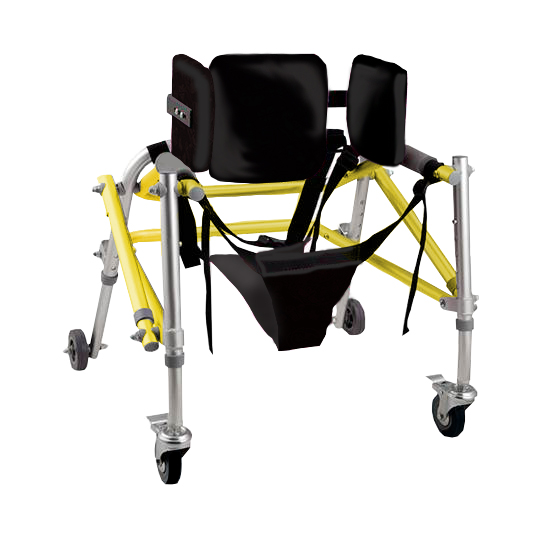 Andador posterior con arnés pediátrico